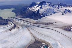 Sluttande Heading för glaciär arkivfoton
