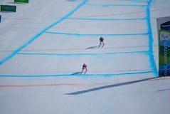 sluttande paralympic skidåkning Fotografering för Bildbyråer