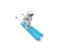 sluttande skier Royaltyfri Bild
