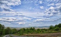 sluttande till Alba Iulia Royaltyfria Foton