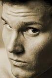 Sluw mannelijk gezicht Royalty-vrije Stock Afbeeldingen