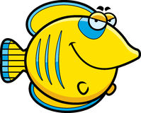 Sly Cartoon Butterflyfish Royalty Free Stock Image