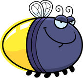 Sly Cartoon Firefly. A cartoon illustration of a firefly with a sly expression Stock Photography