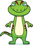 Sly Cartoon Gecko Royalty Free Stock Photos