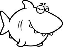 Sly Cartoon Shark Royalty Free Stock Images