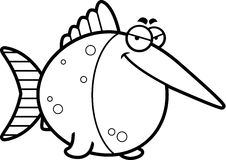 Sly Cartoon Swordfish Stock Photo