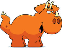 Sly Cartoon Triceratops Stock Images