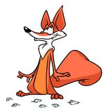 Sly fox bird feathers cartoon illustration Royalty Free Stock Photos