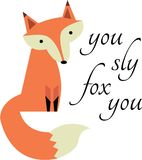 Sly Fox Royalty Free Stock Image