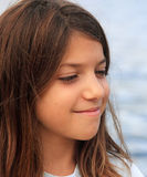 Sly smile. European young model who smiles Royalty Free Stock Photos