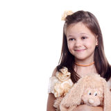 Sly smiling girl Royalty Free Stock Photos