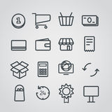Slyle différent de collection d'icônes d'achats illustration de vecteur