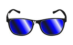 Slyled a conçu des verres de soleil illustration stock