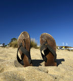 Slypers on the beach Royalty Free Stock Photo
