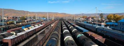 Slyudyanka railway station. On the Trans-Siberian Railway. Lake Baikal Royalty Free Stock Photos