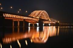 Smäll-Hwabro, över Han River, Seoul, Korea Arkivfoto