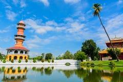 Smäll PA-i Royal Palace i Thailand Arkivfoton