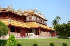 Smäll-PA-i slott i Ayudhaya Thailand. Arkivbilder