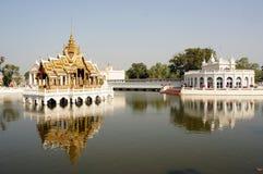 Smäll PA-i slott i Ayutthaya, Thailand Fotografering för Bildbyråer