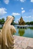 Smäll PA-i slotten, Ayuthaya, Thailand Arkivbilder