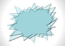 Smällen format exponeringsglas pläterar royaltyfri illustrationer