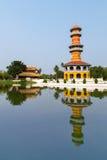 SmällPA i den forntida slotten, Ayutthaya, Thailand Arkivfoton