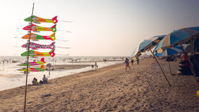 SmällSaen strand, Chonburi, Thailand Arkivfoton