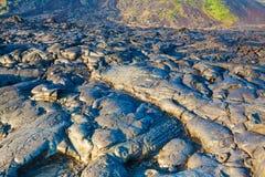 Smält kyld lava Arkivfoto