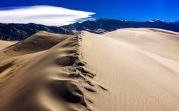 Smält sand på dynvapen Royaltyfri Fotografi