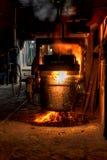 smält stål för ladle arkivfoton