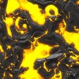 smält varm lava Arkivbild