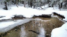 Smältande flod Arkivfoton
