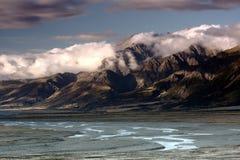 Smältande glaciär Arkivfoto