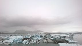 Smältande is i Island Royaltyfria Foton