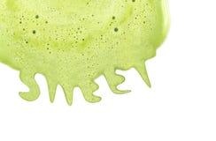 Smältande söt glassbakgrund för grönt te Royaltyfria Foton