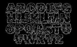 Smältande typ för vektor Arkivbild