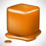smältt caramelkub Royaltyfri Foto