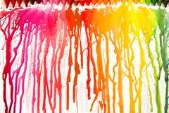 Smältta crayons på kanfas Royaltyfria Foton
