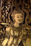 Smärta dörren i tempel royaltyfri foto