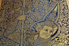Smärta dörren i tempel arkivbild