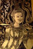 Smärta dörren i tempel royaltyfri fotografi
