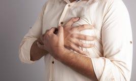 Smärta hjärtamedicin fotografering för bildbyråer