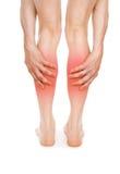Smärta i benen royaltyfria bilder