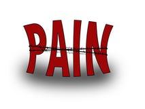 smärta ordet Fotografering för Bildbyråer