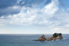 Små öar i Adriatiskt havet royaltyfria bilder