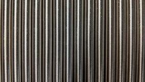 Små arrangera i rak linje metallstänger Royaltyfri Fotografi