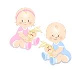 Små barn med en leksak Arkivbild