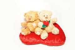 Små björnar på hjärtan Royaltyfri Bild