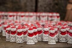 Små buddhas i Yamadera arkivfoton