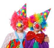 Små clowner arkivfoto